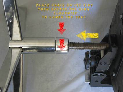 How to Make Office Chair Higher: threaded post