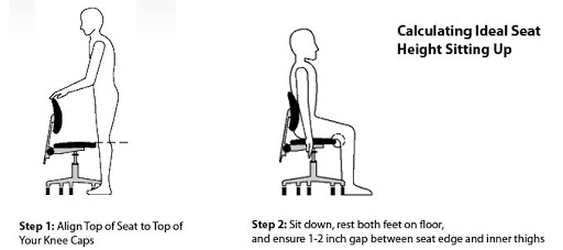 How to Make Office Chair Higher: determine the best seat height