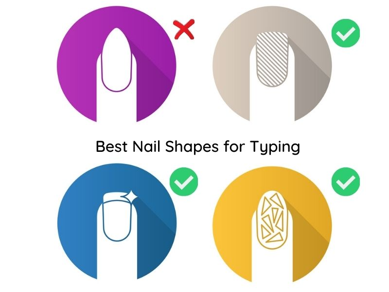 Best Nail Shapes for Typing
